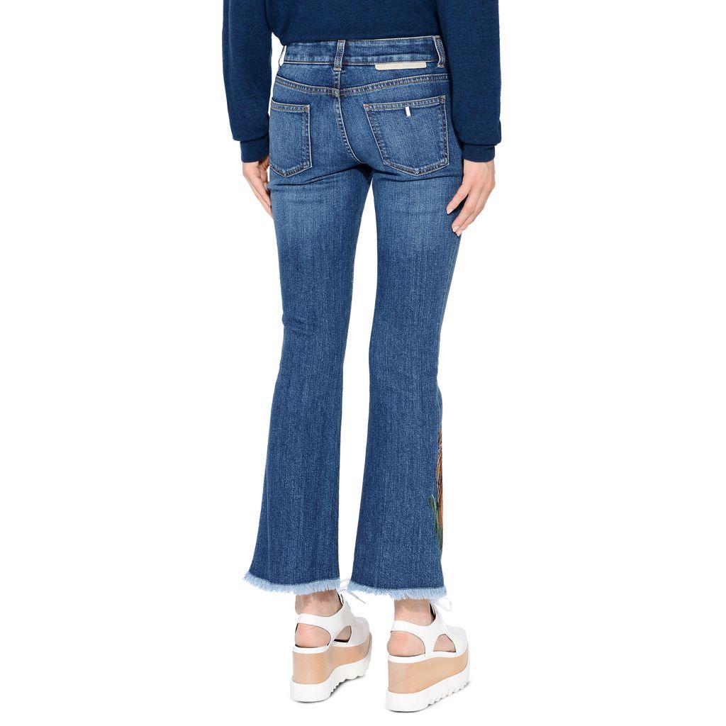 Tiger Embroidery Skinny Kick Jeans - STELLA MCCARTNEY