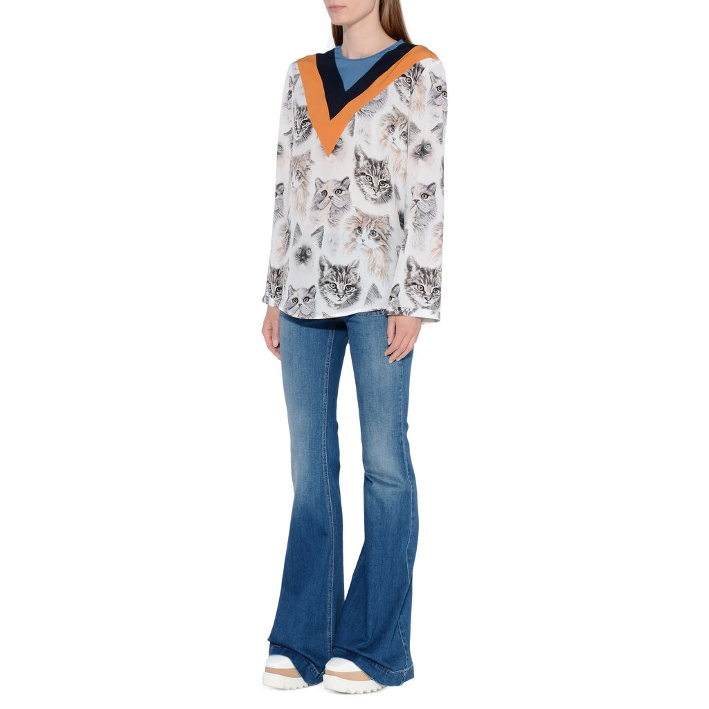 Classic Blue 70s Flares - STELLA MCCARTNEY