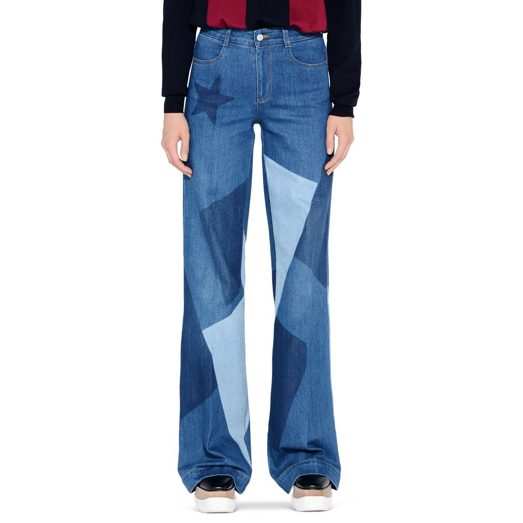 Wide Leg Patchwork Jeans - STELLA MCCARTNEY