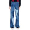 STELLA McCARTNEY Wide Leg Patchwork Jeans Flared D d