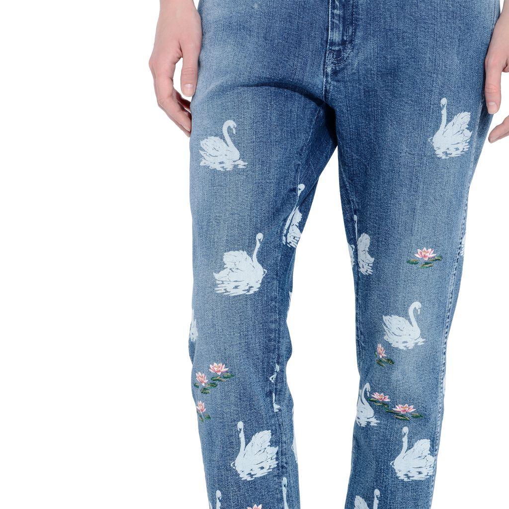 Swan Skinny Boyfriend Jeans  - STELLA MCCARTNEY