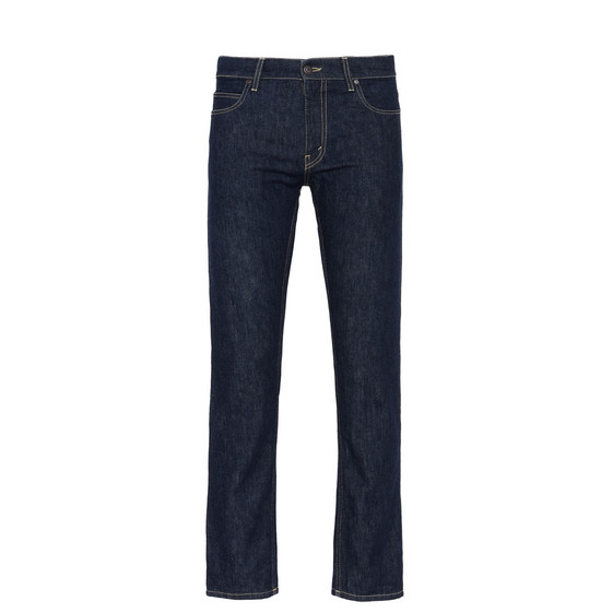 Raw Denim Straight Leg Jeans