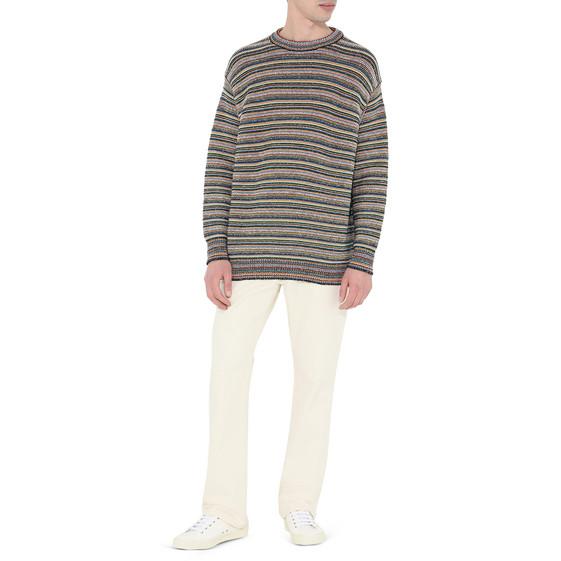 Ecru Calico Denim Jeans