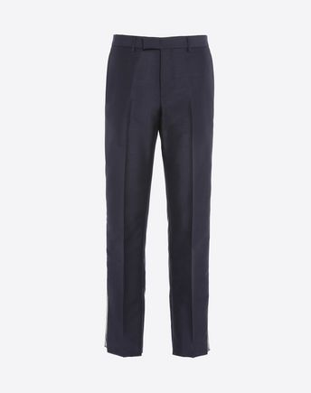 VALENTINO CONTRASTING SIDE BAND PANTS 42556376UR