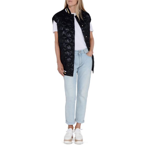 Skinny Boyfriend-Jeans mit ausgefransten Sternen