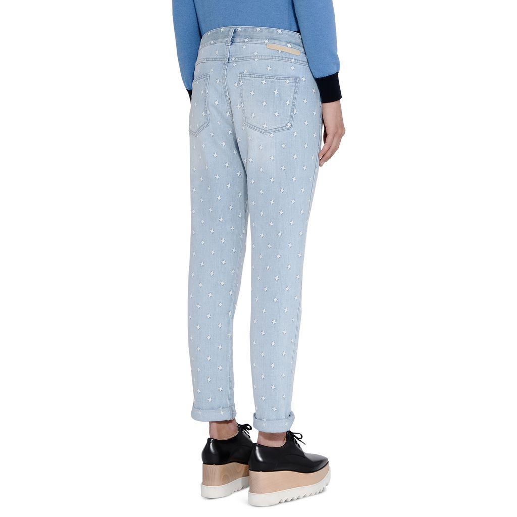 Skinny Boyfriend White Star Jeans - STELLA MCCARTNEY