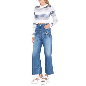 Running horses Denim Culottes