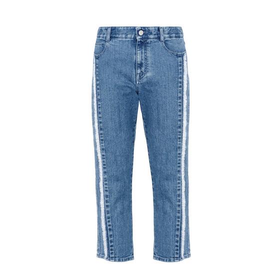 Boyfriend-Jeans mit gefranster Kante
