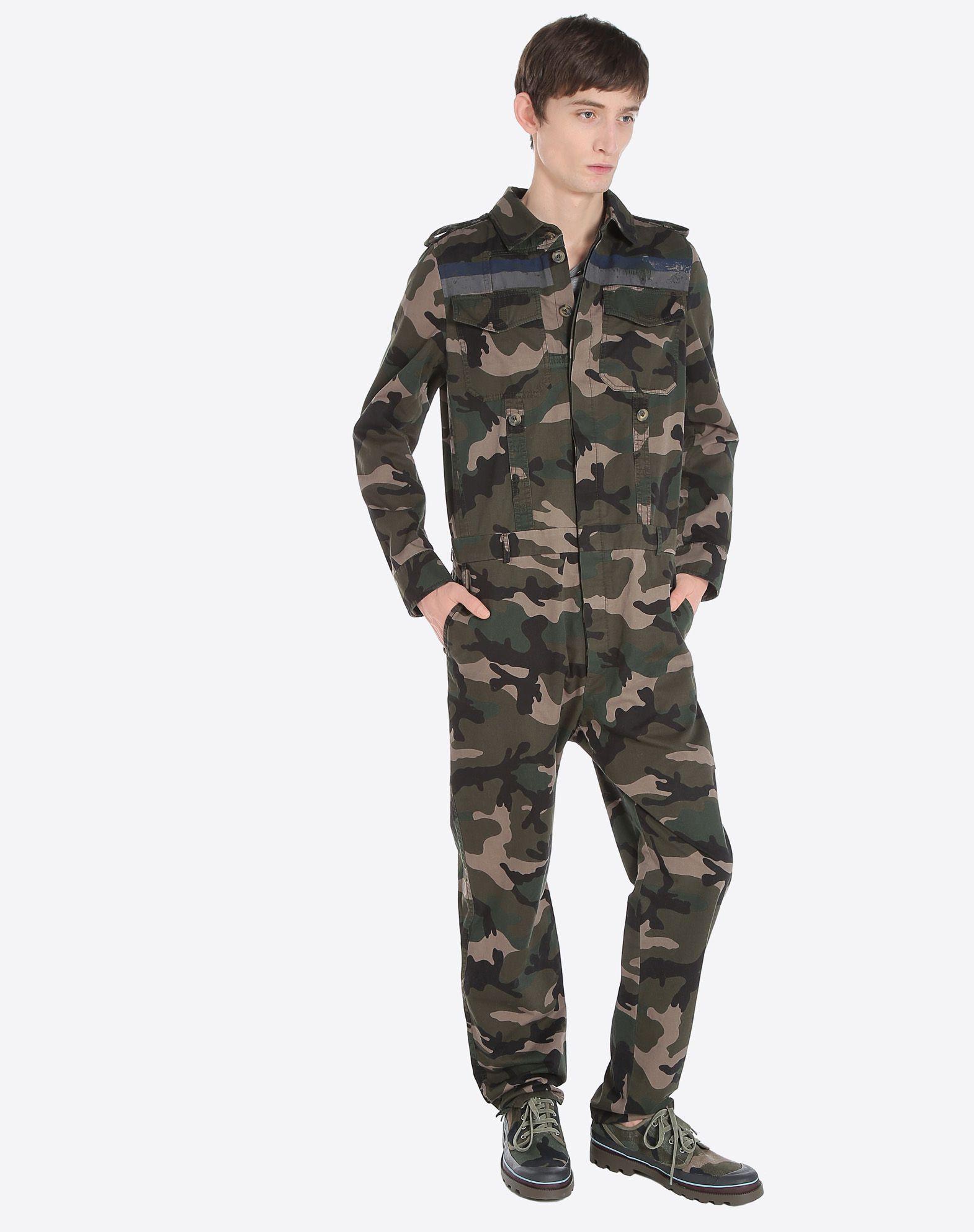 VALENTINO UOMO ID CAMOUFLAGE JUMPSUIT Pants U a