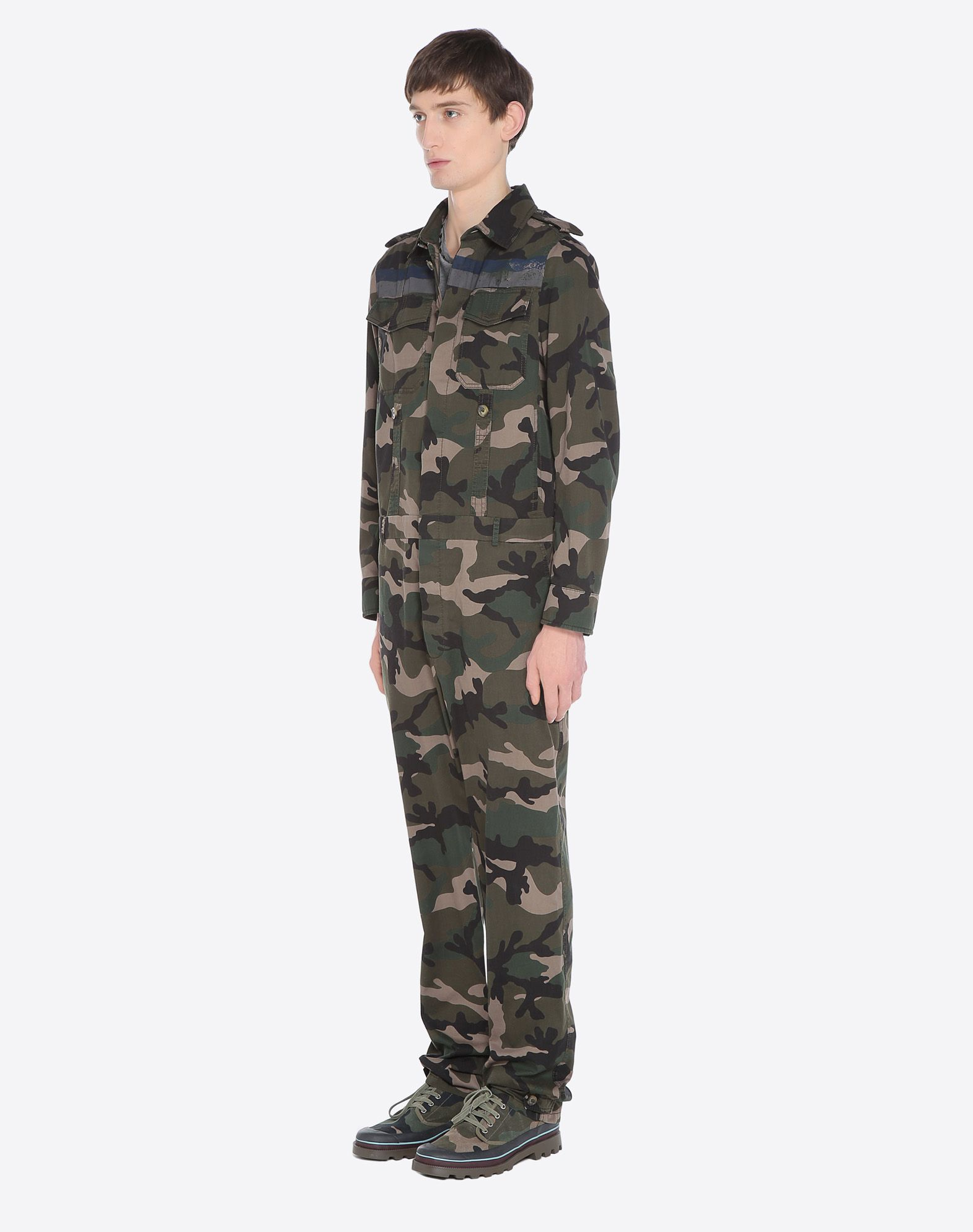 VALENTINO UOMO ID CAMOUFLAGE JUMPSUIT Pants U e