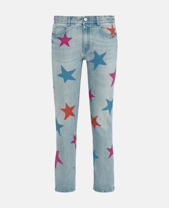 Skinny Multicolour Star Jeans
