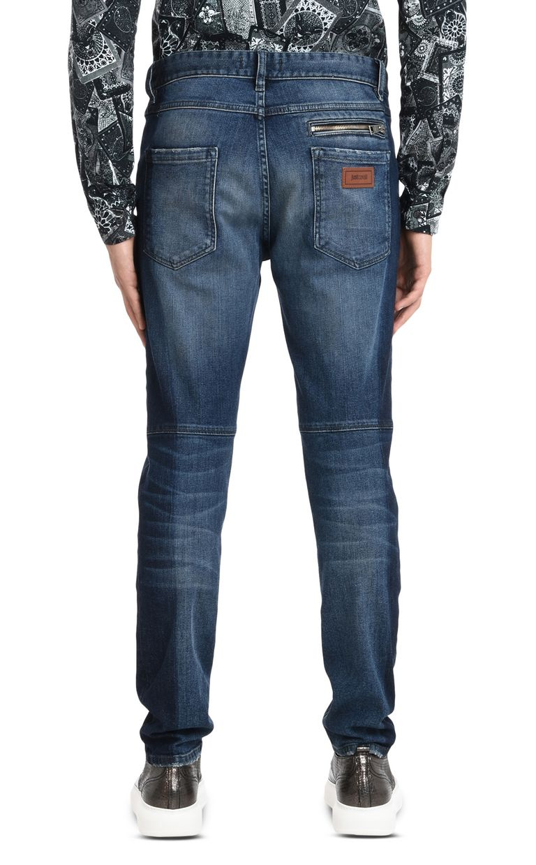 JUST CAVALLI Trousers with visible zipper Jeans Man d