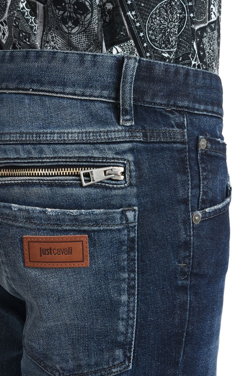 JUST CAVALLI Trousers with visible zipper Jeans Man e