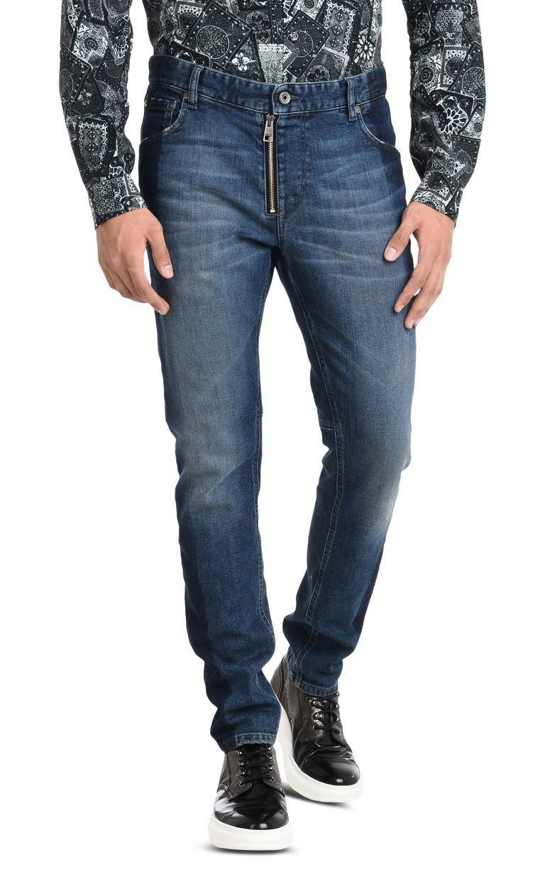 JUST CAVALLI Trousers with visible zipper Jeans Man f