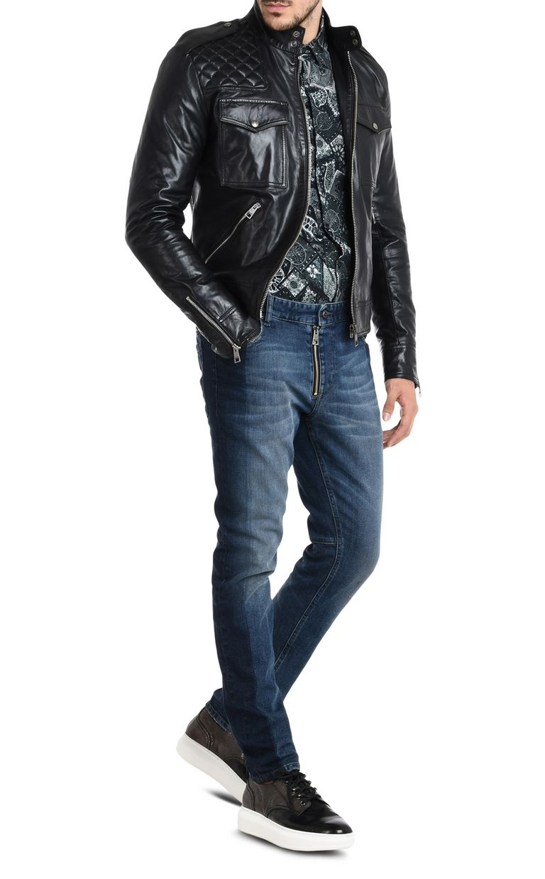 JUST CAVALLI Trousers with visible zipper Jeans Man r
