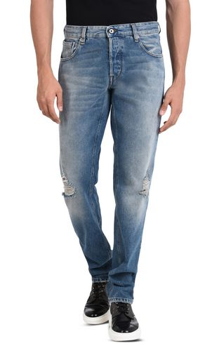 JUST CAVALLI Jeans U Pre-faded slim-fit jeans. f