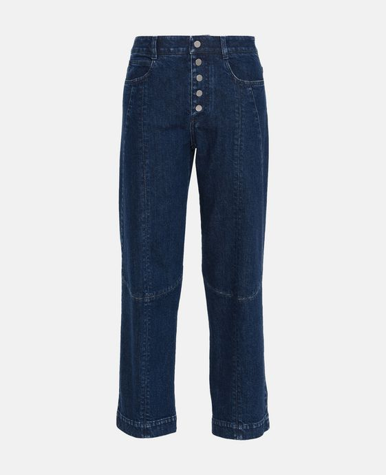 Straight Cropped Denim Jeans