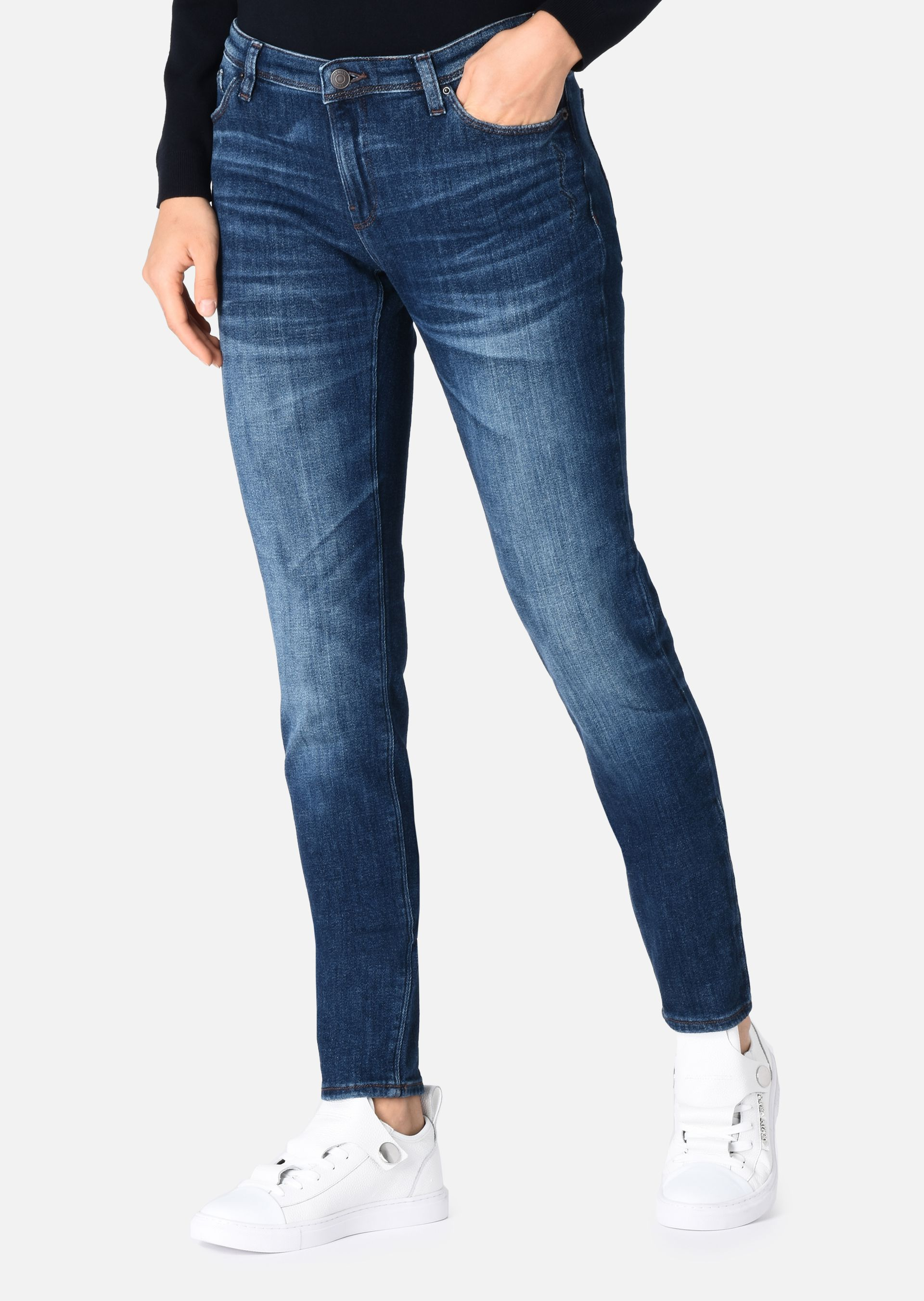 Skinny Ripped Jeans Womens