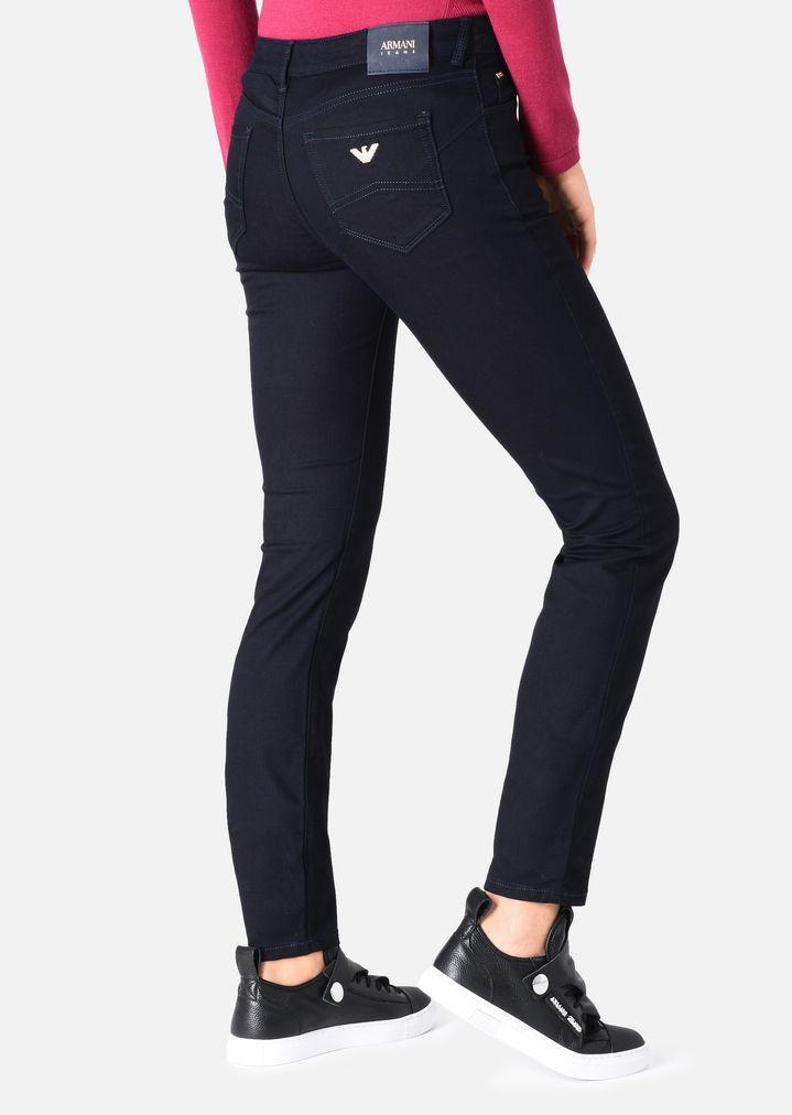 Denim Soft Emporio En Jean Armani J23 Coupe Femme Super Skinny 1wwU6Xq