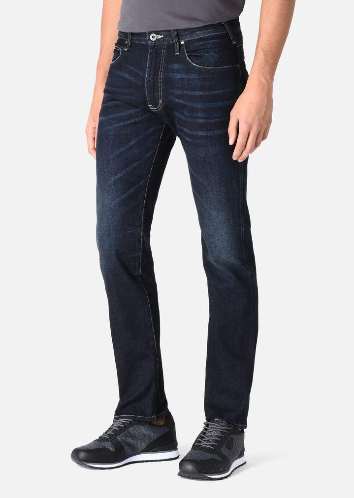 ... EMPORIO ARMANI J45 SLIM JEANS IN COMFORT DENIM Slim Jeans Man r ...