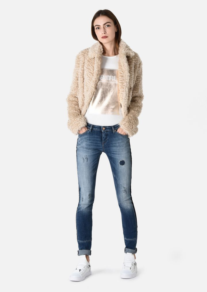 J06 SKINNY JEANS IN STRETCH DENIM   Woman   Emporio Armani 8cba504aa31