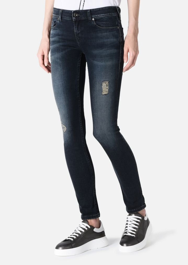 Sast Online Amazing Price Cheap Online classic skinny jeans - Black Emporio Armani Buy Cheap Store Clearance Prices Great Deals Cheap Online bHJRi6