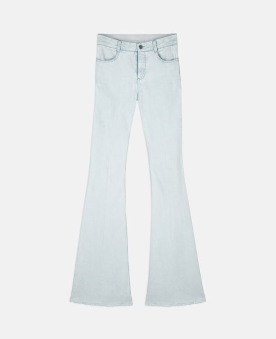 Light Denim '70s Flare