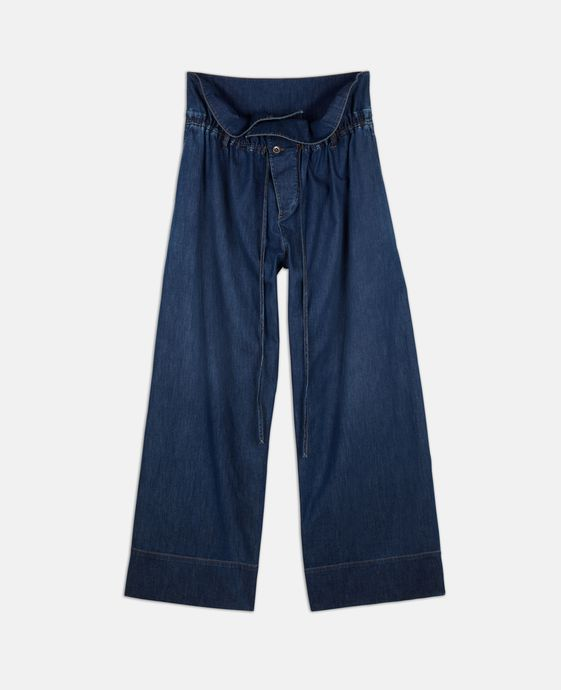 Oliva Voluminous Denim Trousers