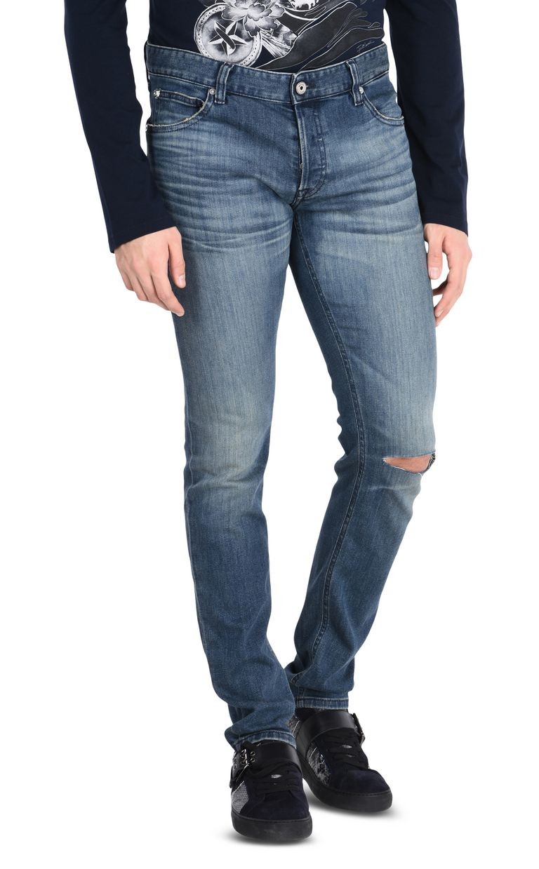 JUST CAVALLI Ripped jeans with five pockets Jeans Man f