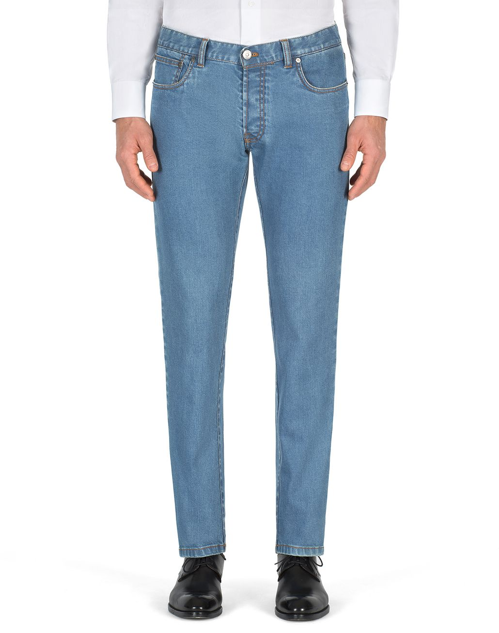 BRIONI Bluette Slim-Fit Aneto Jeans Denim Man r
