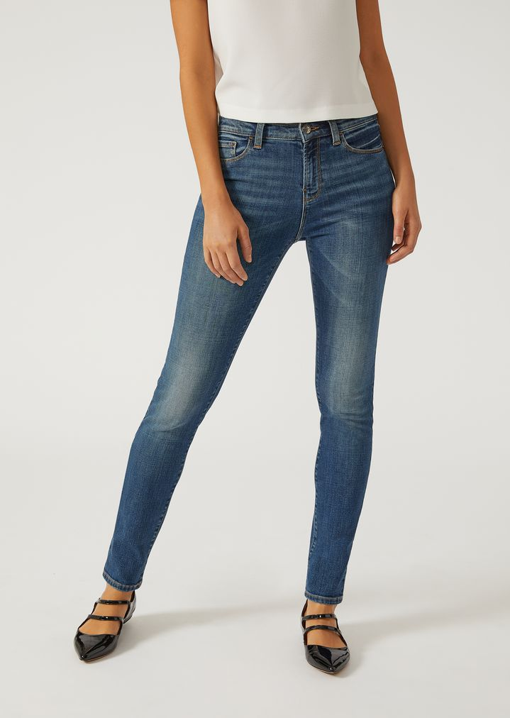 J02 jeans in washed denim   Woman   Emporio Armani ed40bca8f11