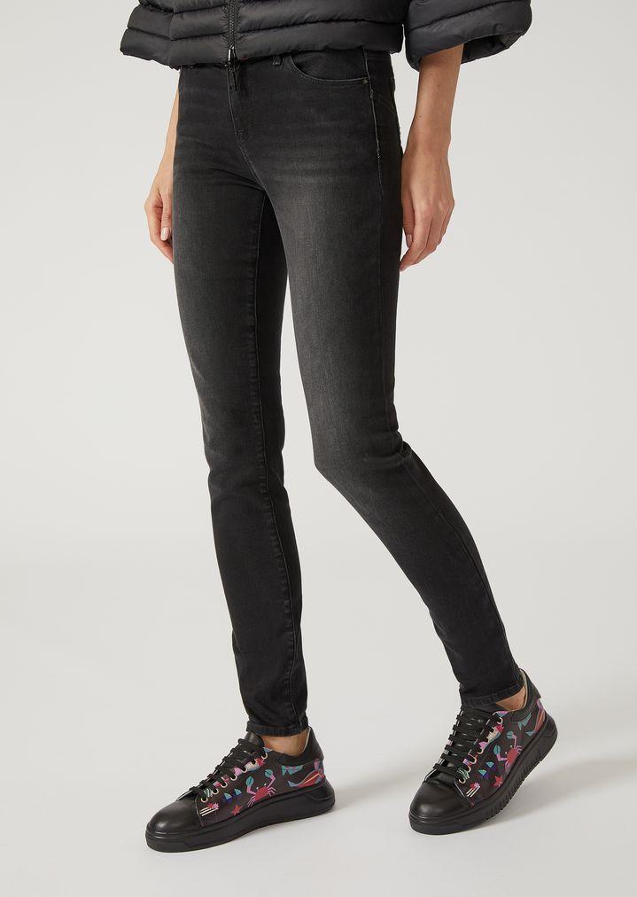 J23 super skinny jeans in stretch denim   Woman   Emporio Armani 44ed431d261