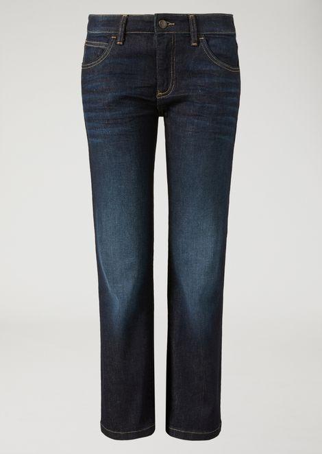 J34 cropped stonewashed jeans