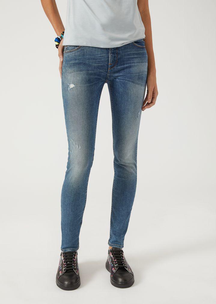 J28 super skinny stonewashed jeans   Woman   Emporio Armani 21b9d14a055