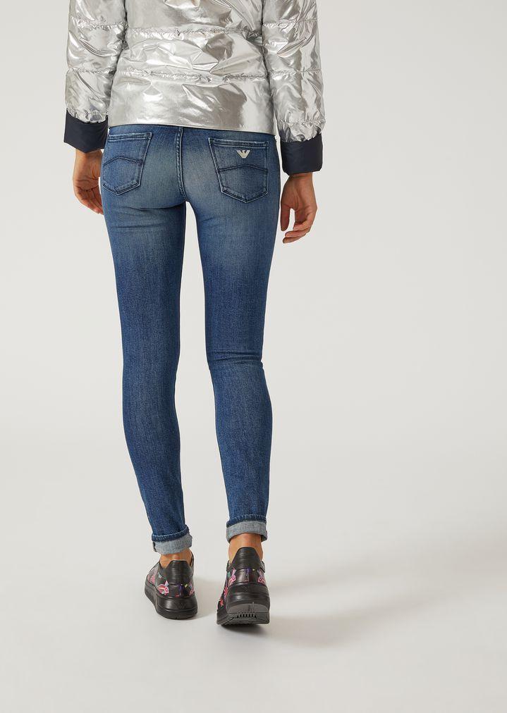 Super skinny J06 stonewashed jeans   Woman   Emporio Armani 40507a19a2b