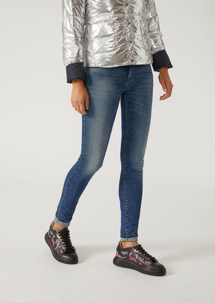 Super skinny J06 stonewashed jeans   Woman   Emporio Armani dab546e5c37