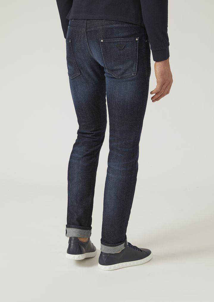 49666149a110 EMPORIO ARMANI J20 EXTRA SLIM FIT STRETCH COTTON DENIM JEANS Skinny Jeans  Man e