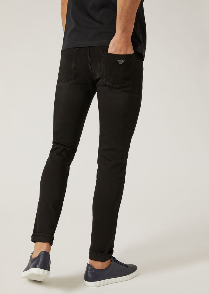 4277faf69d79 ... J11 EXTRA SLIM FIT COTTON AND STRETCH MODAL JEANS. EMPORIO ARMANI