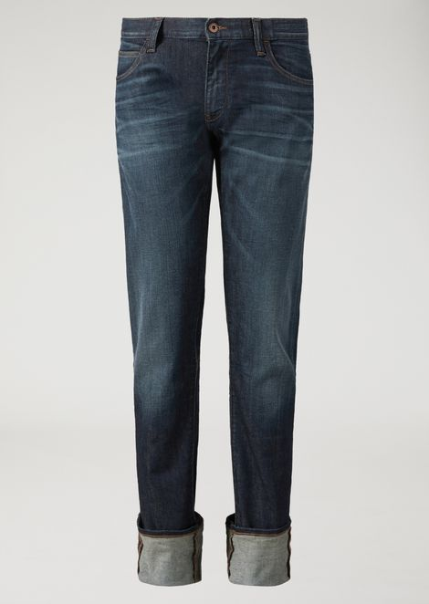 J10 Extra-Slim-Fit Stretch Cotton Denim Jeans