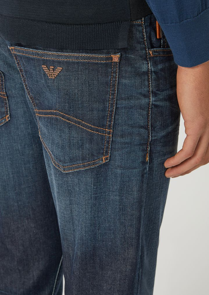 3c2fdd529ce5 EMPORIO ARMANI J10 Extra-Slim-Fit Stretch Cotton Denim Jeans Skinny Jeans  Man a