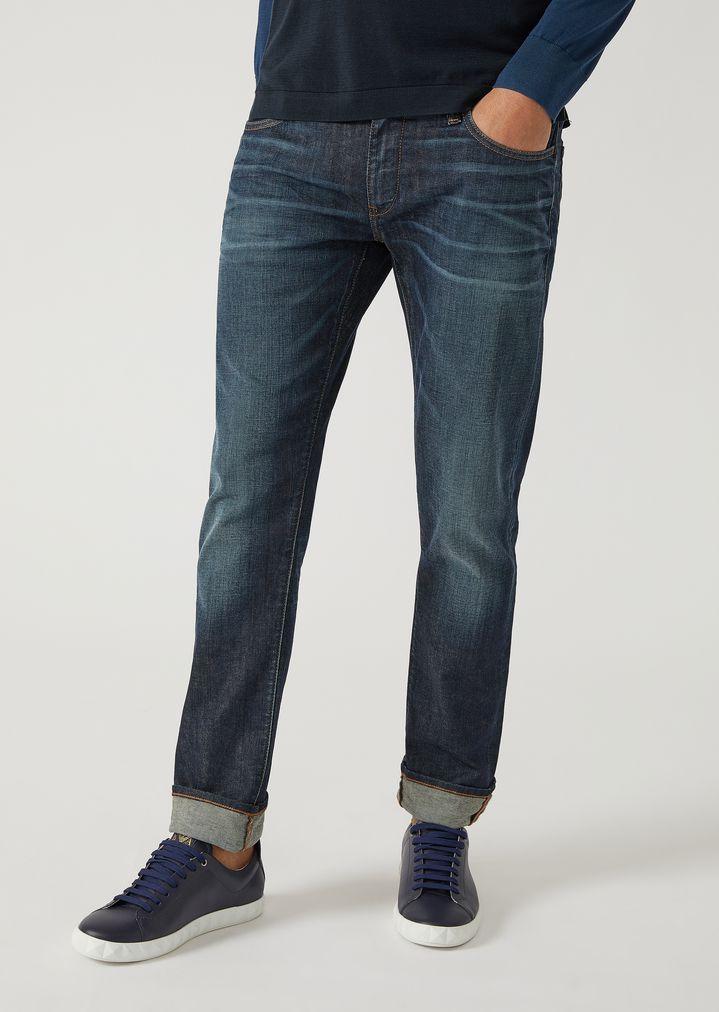 961535194d6c EMPORIO ARMANI J10 Extra-Slim-Fit Stretch Cotton Denim Jeans Skinny Jeans  Man f
