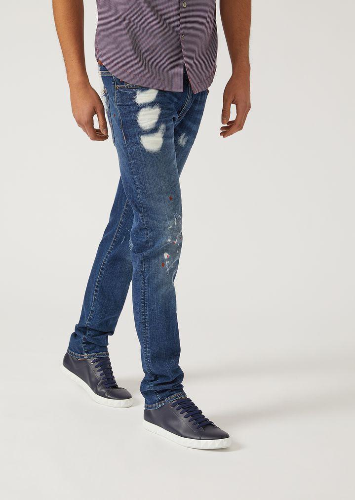 6f196fba63 J10 Extra-Slim-Fit Stretch Cotton Denim Jeans | Man | Emporio Armani