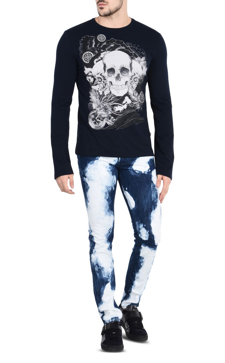 JUST CAVALLI Cloud-effect jeans with five pockets Jeans Man r
