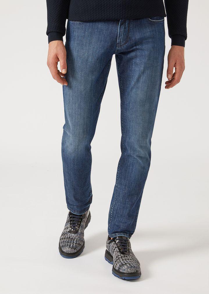 857e492ccc Slim fit j06 jeans in stretch cotton denim   Man   Emporio Armani