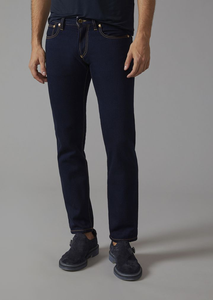 GIORGIO ARMANI Slim fit jeans in cotton Slim Jeans Man f ...