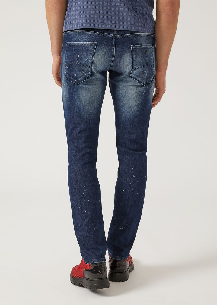 fb839e5dbfec ... J06 SLIM FIT STRETCH COTTON DENIM JEANS. EMPORIO ARMANI