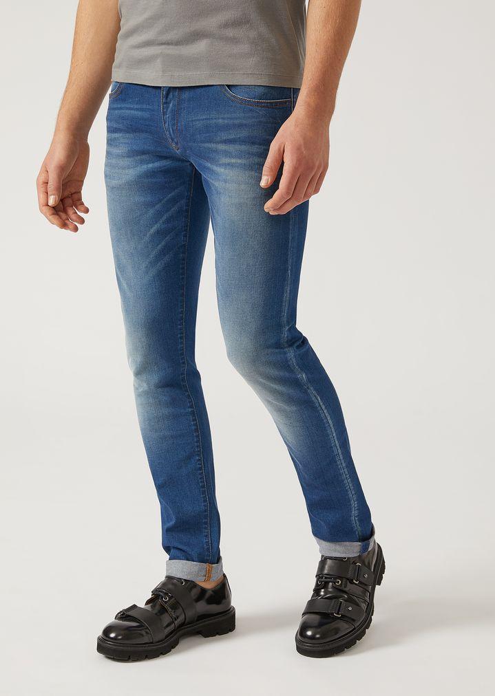 84aa984ea7 J10 extra slim fit stretch cotton denim jeans | Man | Emporio Armani