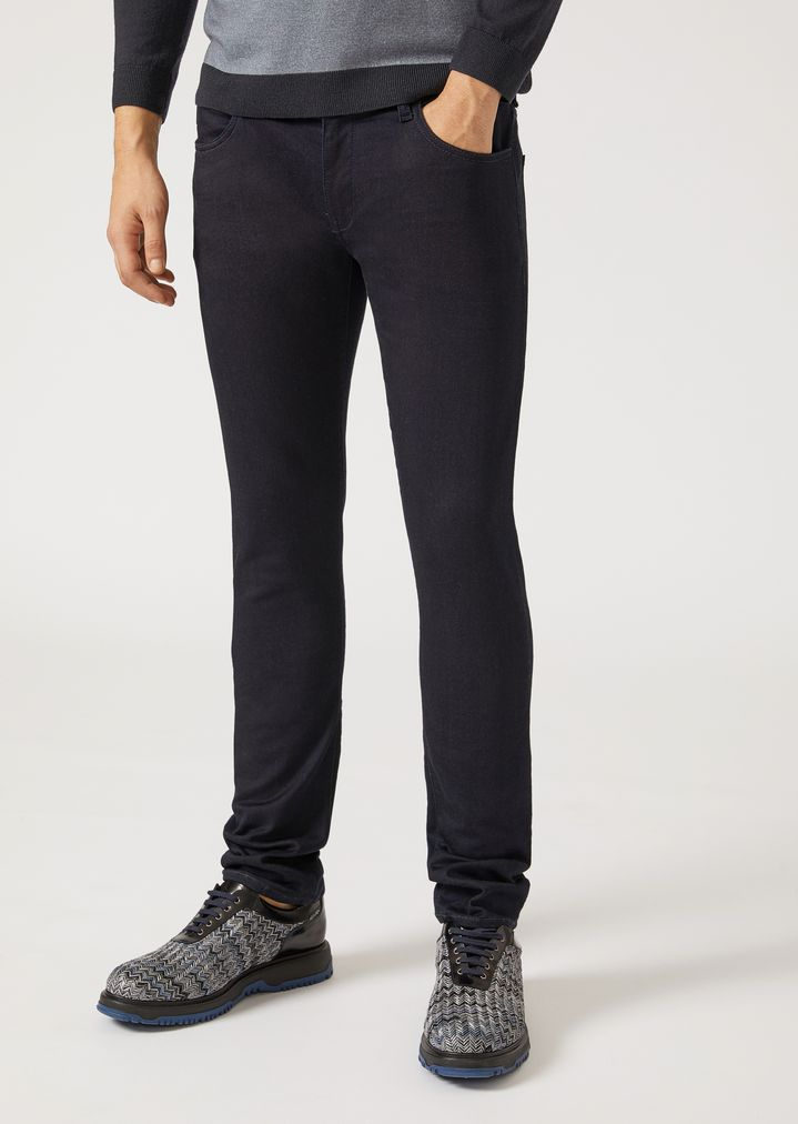 e8a57391 J10 Extra-Slim-Fit Stretch Cotton Fleece Jeans | Man | Emporio Armani