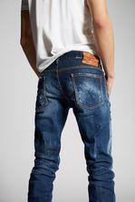 DSQUARED2 Medium White Spray Slim Jeans 5 pockets Man