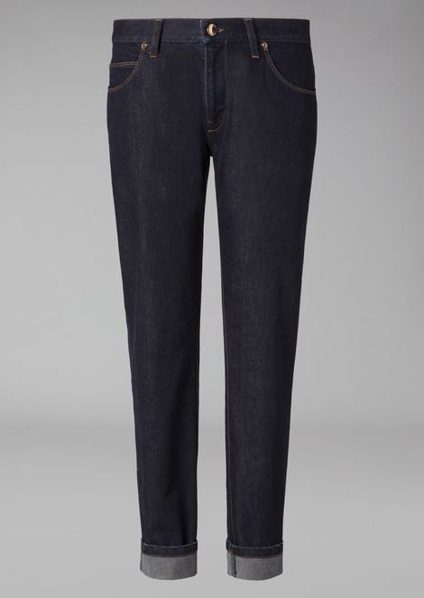 Slim fit jeans in cotton and cashmere denim